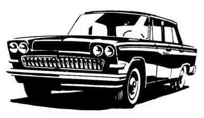 Один из первых эскизов ГАЗ-24, 1961 г.